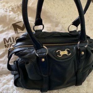 Michael Kors Black Leather Doctor Bag
